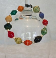 Handmade African Beads Multi Colors Stretchy Bracelet