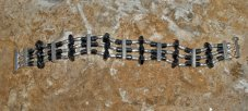 Stylish Bracelet with Hematite is & Inches in Length