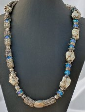 Nuggets White Howlite Blue Angelic Crystals 24 Inch Length