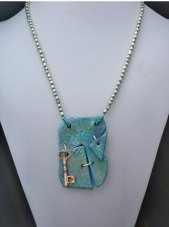 Polymer Clay Teal Necklace