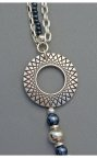 Denim Lapis Asymmetrical Necklace