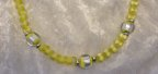 Yellow Cats Eye Foil Glass Balls Delicate 30 Inch Length